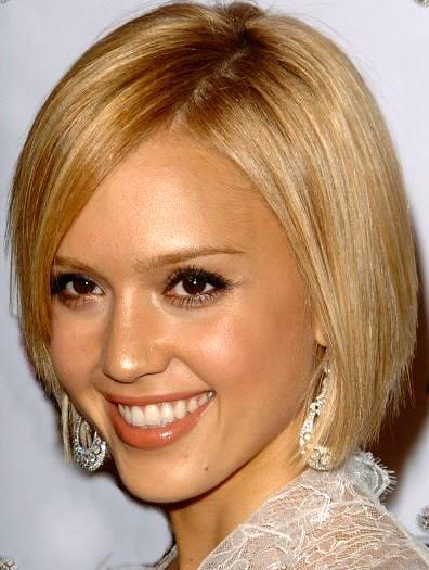jessica-alba-bob-hairstyle-g. Mommy Alba looks classy with this bob